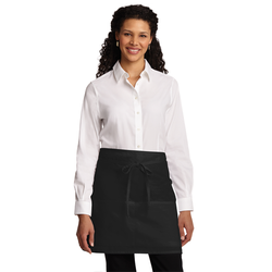 A706 Port Authority® Easy Care Half Bistro Apron with Stain Release (1593348259882)