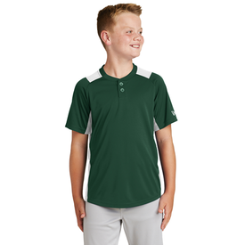 YNEA221 New Era® Youth Diamond Era 2-Button Jersey (1617887789098)