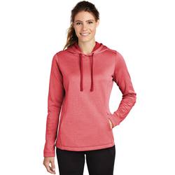 LST264 Sport-Tek ® Ladies PosiCharge ® Sport-Wick ® Heather Fleece Hooded Pullover