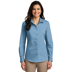 LW100 Port Authority® Ladies Long Sleeve Carefree Poplin Shirt
