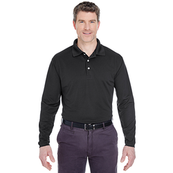 8445LS UltraClub Adult Cool & Dry Long-Sleeve Stain-Release Performance Polo