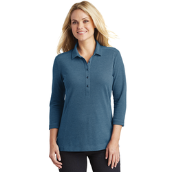 LK581 Port Authority® Ladies Coastal Cotton Blend Polo