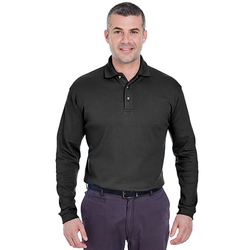 U8501 UltraClub Men's Egyptian Interlock Long-Sleeve Polo