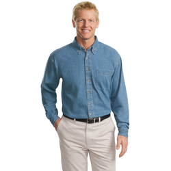 TLS600 Port Authority® Tall Long Sleeve Denim Shirt