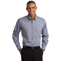 TLS642 Port Authority® Tall Tattersall Easy Care Shirt
