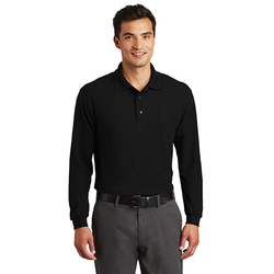 K500LSP Port Authority® Long Sleeve Silk Touch™ Polo with Pocket