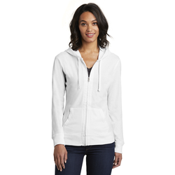 DT2100 District® Women's Fitted Jersey Full-Zip Hoodie