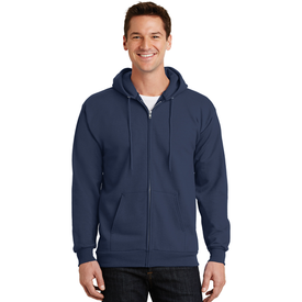PC90ZH Port & Company® - Essential Fleece Full-Zip Hooded Sweatshirt (1399698948138)