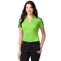 L547 Port Authority® Ladies Silk Touch™ Performance Colorblock Stripe Polo
