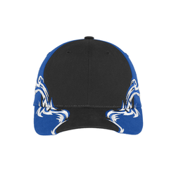 C859 Port Authority® Colorblock Racing Cap with Flames