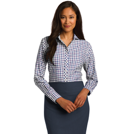 RH75 Red House® Ladies Tricolor Check Non-Iron Shirt (1558983639082)