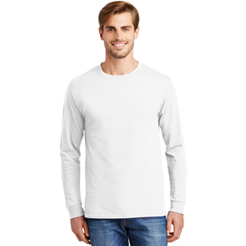 5586 Hanes® - Tagless® 100% Cotton Long Sleeve T-Shirt (1360500064298)