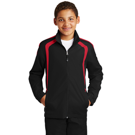 YST60 Sport-Tek® Youth Colorblock Raglan Jacket (1571142369322)