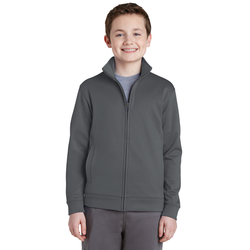 YST241 Sport-Tek® Youth Sport-Wick® Fleece Full-Zip Jacket (1588437254186)