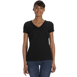L39VR Fruit of the Loom Ladies' 5 oz. HD Cotton™ V-Neck T-Shirt