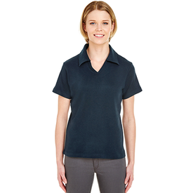8507 UltraClub Ladies' Egyptian Interlock V-Neck Polo (1782837018666)