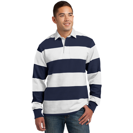 ST301 Sport-Tek® Classic Long Sleeve Rugby Polo (1869106217002)