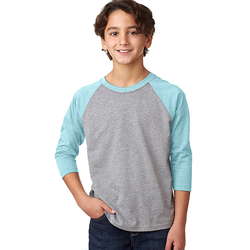 3352 Next Level Youth CVC 3/4-Sleeve Raglan (1882662764586)
