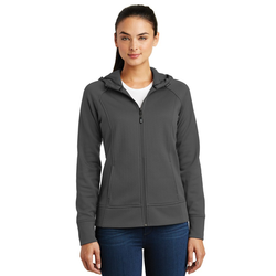 LST295 Sport-Tek® Ladies Rival Tech Fleece Full-Zip Hooded Jacket