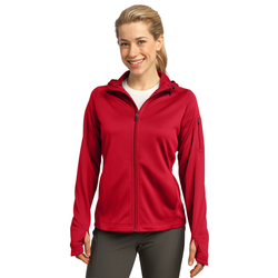 L248 Sport-Tek® Ladies Tech Fleece Full-Zip Hooded Jacket