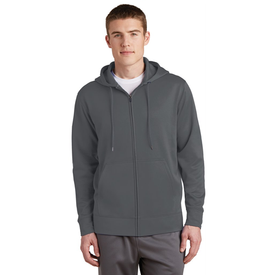 ST238 Sport-Tek® Sport-Wick® Fleece Full-Zip Hooded Jacket (1397049425962)