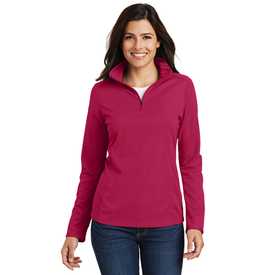 L806 Port Authority® Ladies Pinpoint Mesh 1/2-Zip (1581166002218)