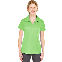 8220L UltraClub Ladies' Cool & Dry Jacquard Stripe Polo