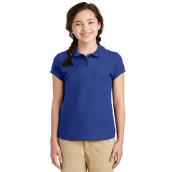 YG503 Port Authority® Girls Silk Touch™ Peter Pan Collar Polo (1379244539946)