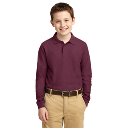 Y500LS Port Authority® Youth Long Sleeve Silk Touch™ Polo