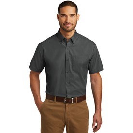 W101 Port Authority® Short Sleeve Carefree Poplin Shirt (1569239334954)