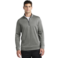 ST263 Sport-Tek ® PosiCharge ® Sport-Wick ® Heather Fleece 1/4-Zip Pullover