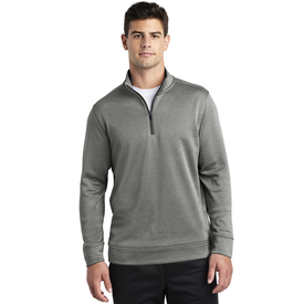 ST263 Sport-Tek ® PosiCharge ® Sport-Wick ® Heather Fleece 1/4-Zip Pullover (1870123270186)