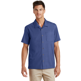 S662 Port Authority® Textured Camp Shirt (1563398832170)