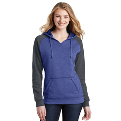 DT296 District® Women's Lightweight Fleece Raglan Hoodie
