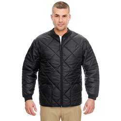 8467 UltraClub Adult Puffy Workwear Jacket with Quilted Lining (1780861108266)
