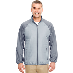 8292 UltraClub Adult Cool & Dry Quilted Front Full-Zip Lightweight Jacket (1782675832874)