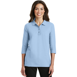 L562 Port Authority® Ladies Silk Touch™ 3/4-Sleeve Polo (1877645164586)