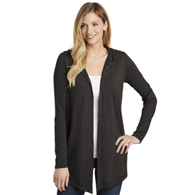 DT156 District ® Women's Perfect Tri ® Hooded Cardigan (1635788488746)