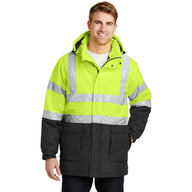J799S Port Authority® ANSI 107 Class 3 Safety Heavyweight Parka (1587225362474)