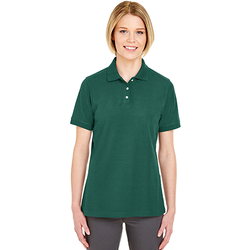 7510L UltraClub Ladies' Platinum Honeycomb Piqué Polo
