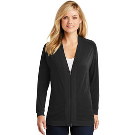 LK5431 Port Authority® Ladies Concept Bomber Cardigan (1877894365226)