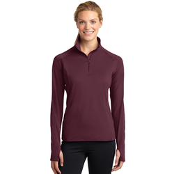 LST850 Sport-Tek® Ladies Sport-Wick® Stretch 1/2-Zip Pullover (1589764685866)