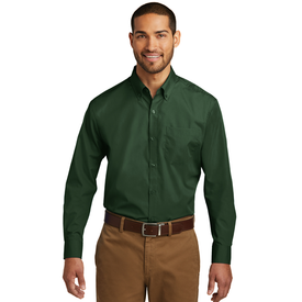 W100 Port Authority® Long Sleeve Carefree Poplin Shirt (1570091565098)
