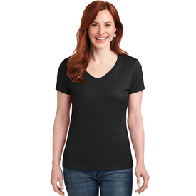 S04V Hanes® Ladies Nano-T® Cotton V-Neck T-Shirt (1365253619754)