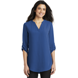 LW701 Port Authority ® Ladies 3/4-Sleeve Tunic Blouse (1879211114538)