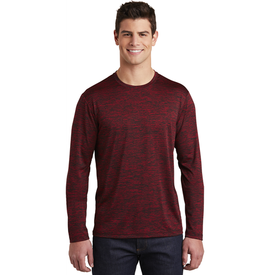 ST390LS Sport-Tek ® PosiCharge ® Long Sleeve Electric Heather Tee (1869272481834)