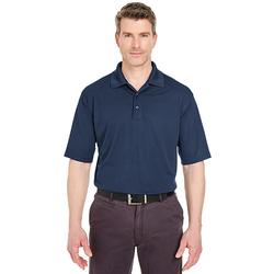 8255 UltraClub Men's Cool & Dry Jacquard Performance Polo