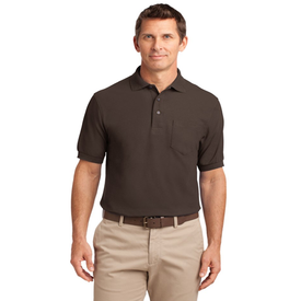 TLK500P Port Authority® Tall Silk Touch™ Polo with Pocket (1344445972522)