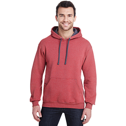 SF77R Fruit of the Loom Adult 7.2 oz. Sofspun® Striped Hooded Sweatshirt