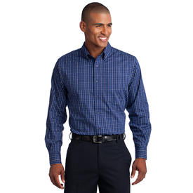 S642 Port Authority® Tattersall Easy Care Shirt (1570273099818)